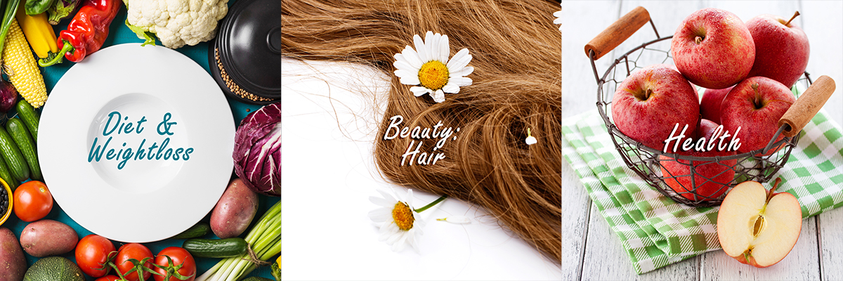 Diet and Weightloss, Beauty: Hair, Health